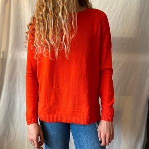 Cherry red old navy sweater